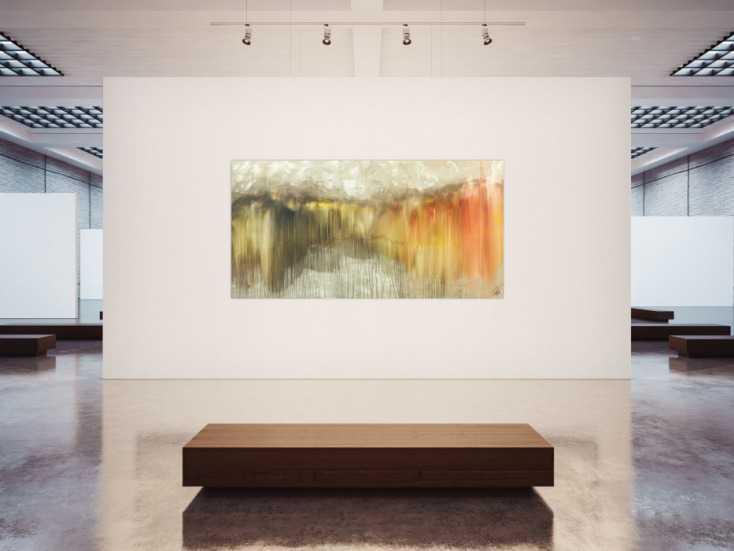 #1521 Abstraktes Acrylbild Mischtechnik mediterrane Farben Modern Art ... 120x240cm von Alex Zerr