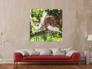 Modernes abstraktes Gemälde Action Painting Acrylbild auf Leinwand handgemalt expressionistisch