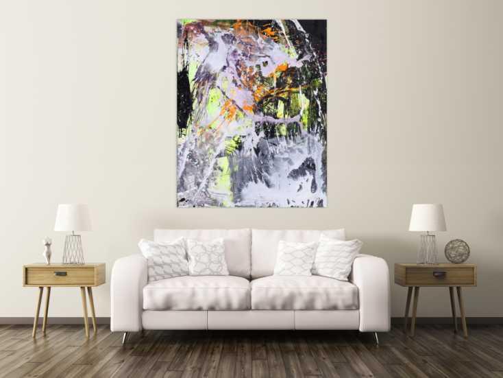 #1569 Abstraktes Gemälde Modern Art Action Painting Mischtechnik auf ... 150x120cm von Alex Zerr