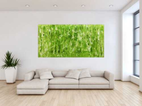 Grünes Acrylbild abstrakt und modern