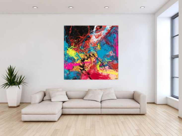 #1573 Abstraktes Gemälde seht bunt Modern Art Zeitgenössisch ... 130x130cm von Alex Zerr