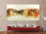 Abstraktes Gemälde Modern Art Mischtechnik handgemalt auf Leinwand sehr groß zeitgenössisch