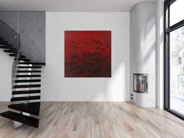 #1578 Abstraktes Acrylbild Modern Art auf Leinwand handgemalt ... 140x140cm von Alex Zerr