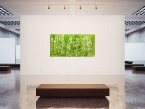 Abstraktes Acrylgemälde bunt modern