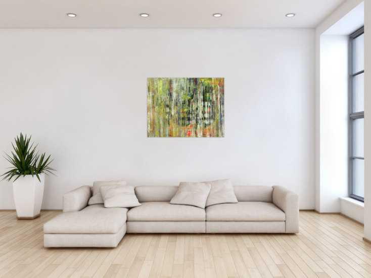#1587 Abstraktes Gemälde Modern Art handgemalt auf Leinwand Spachteltechnik 70x90cm von Alex Zerr