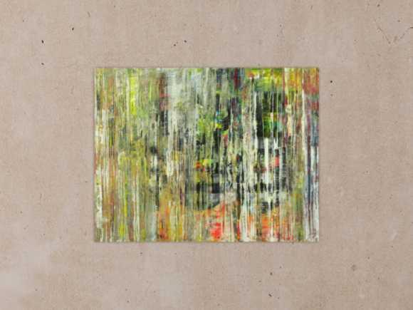 Abstraktes Gemälde Modern Art handgemalt auf Leinwand Spachteltechnik 70x90cm