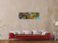 Abstraktes Gemälde Mischtechnik Modern Art auf Leinwand Handgemalt zeitgenössisch