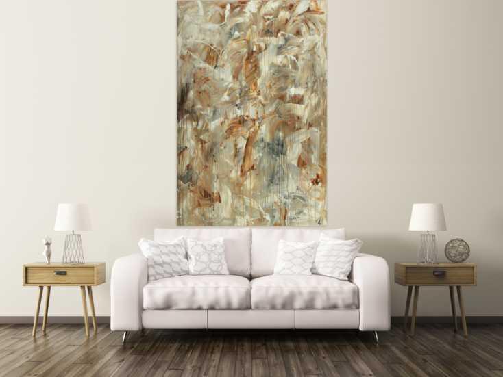 #1591 Abstraktes Gemälde auf Leinwand handgemalt Mischtechnik Modern Art ... 180x120cm von Alex Zerr