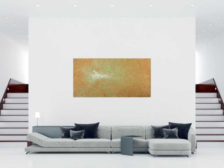 #1594 Abstraktes Acrylbild handgemalt Mischtechnik Action Painting auf ... 100x200cm von Alex Zerr