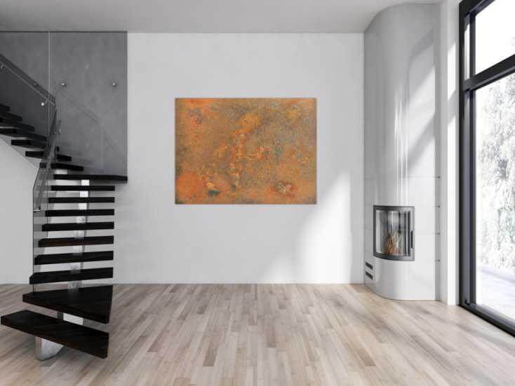 #160 Abstraktes Bild aus Rost - Rostbild 100x150cm von Alex Zerr