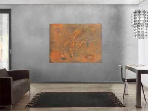 Abstraktes Bild aus Rost - Rostbild