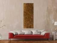 Abstraktes Gemälde aus echtem Rost mit grober Struktur auf Leinwand handgemalt Modern Art