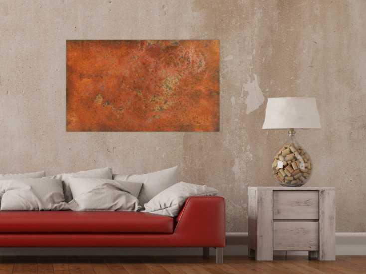 #161 Abstraktes Gemälde aus echtem Rost 60x100cm von Alex Zerr