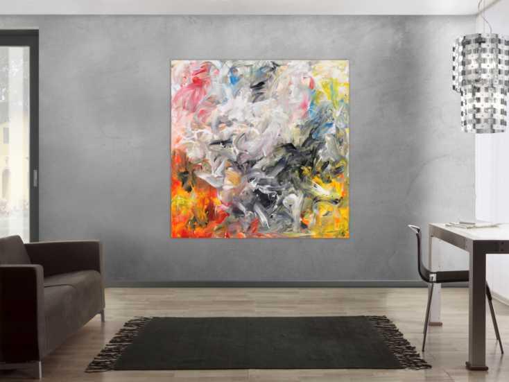 #1630 Abstraktes Acrylbild modernes Gemälde auf Leinwand handgemalt ... 150x150cm von Alex Zerr