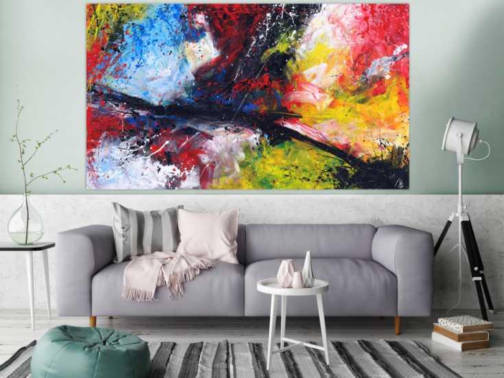 #1634 Abstraktes Gemälde Action Painting Modern Art zeitgenössisch ... 115x200cm von Alex Zerr