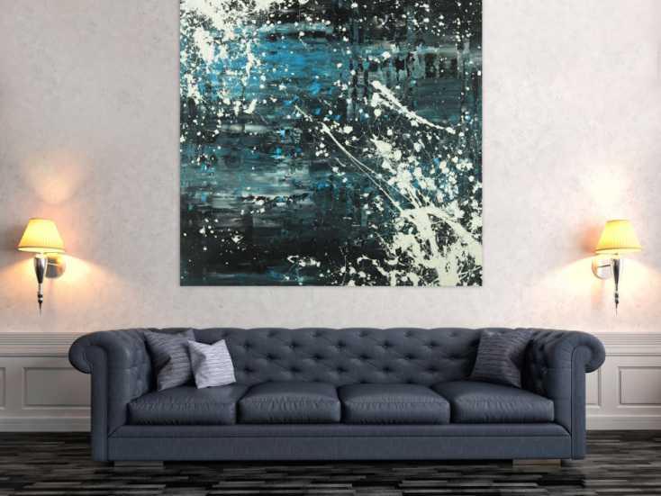 #1639 Abstraktes Acrylbild Modern Art Spachteltechnik Action Painting groß ... 140x140cm von Alex Zerr
