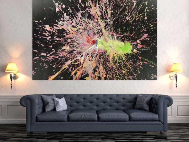 #1647 Abstraktes Acrylbild auf Leinwand Action Paniting Modern Art ... 130x200cm von Alex Zerr