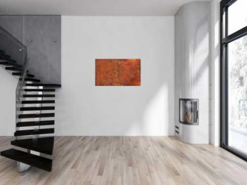 Gemälde aus echtem Rost abstrakt modern