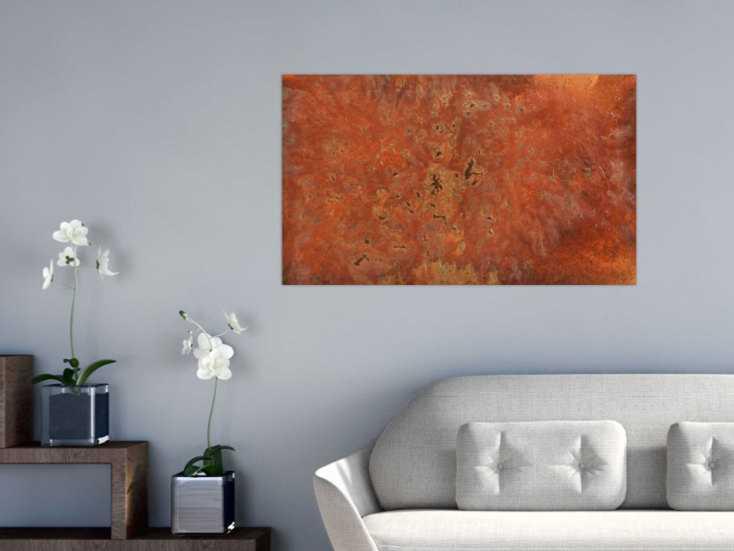 gem lde aus echtem rost abstrakt modern auf leinwand 60x100cm. Black Bedroom Furniture Sets. Home Design Ideas