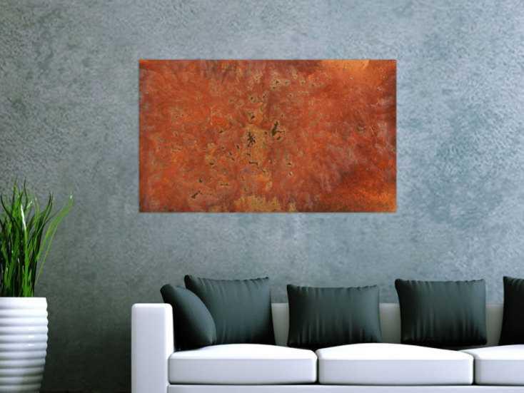 #165 Gemälde aus echtem Rost abstrakt modern 60x100cm von Alex Zerr