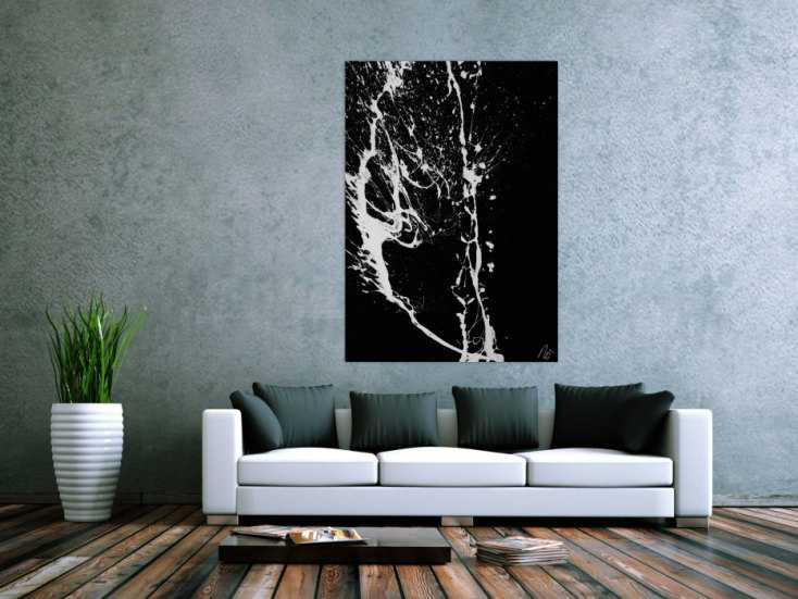#1658 Abstraktes Gemälde Action Painting Minimalistisch Modern Art ... 135x95cm von Alex Zerr
