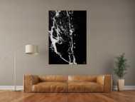 Abstraktes Gemälde Action Painting Minimalistisch Modern Art handgemalt