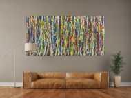 Abstraktes Gemälde Action Painting sehr bunt Moden Art handgemalt