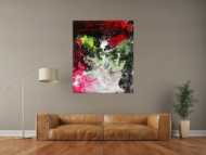 Modernes abstraktes Gemälde auf Leinwand handgemalt grobe Stuktur Modern Art