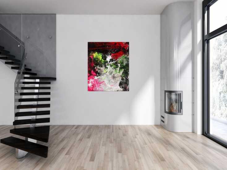 #1671 Modernes abstraktes Gemälde auf Leinwand handgemalt grobe Stuktur ... 120x100cm von Alex Zerr