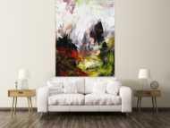 Abstrakres Gemälde Modern Art Tachismus handgemalt auf Leinwand