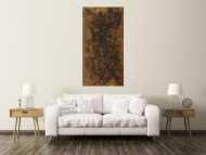Abstraktes Gemälde aus echtem Rost grobe Struktur handgemalt Modern Art auf Leinwand