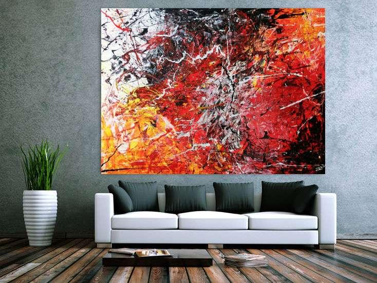 abstraktes acrylbild modern stilvoll und sehr gro handgemalt auf leinwand in 150x200cm von alex. Black Bedroom Furniture Sets. Home Design Ideas