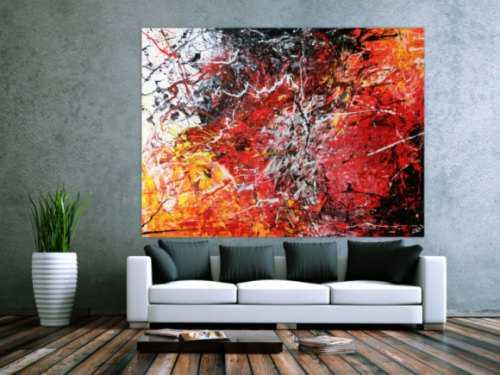 Abstraktes Acrylbild modern stilvoll und sehr groß