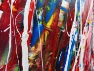 Detailaufnahme Abstraktes Acrylbild XXL bunt modern