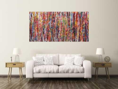 Abstraktes Acrylbild XXL bunt modern