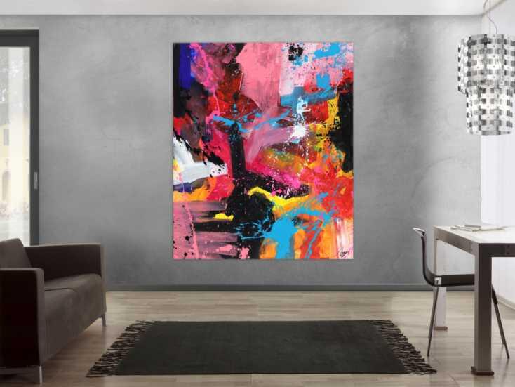 #1700 Abstraktes Gemälde Action Painting Modern Art Handgemalt auf ... 180x150cm von Alex Zerr