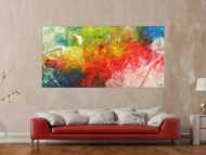 Abstraktes Gemälde Modern Art bunte Farben handgemalt auf Leinwand