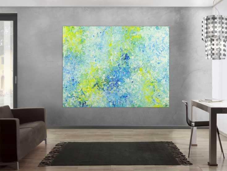 #1706 Abstraktes Acrylbild modernes Gemälde auf Leinwand sehr groß Action ... 150x200cm von Alex Zerr