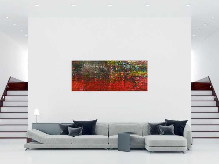 #1712 Abstraktes Gemälde Spachteltechnik Modern Art handgemalt auf ... 80x200cm von Alex Zerr
