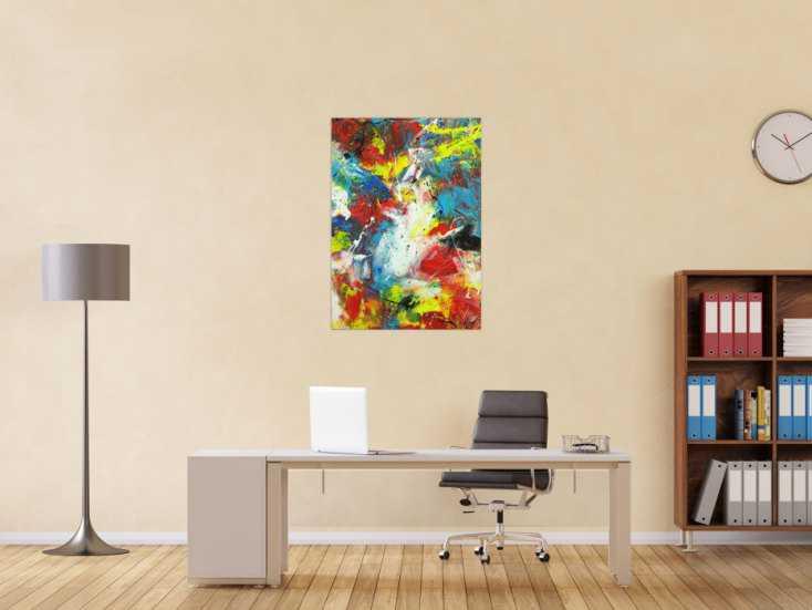 #1719 Abstraktes Gemälde Action Painting Spachtentechnik Modern Art sehr ... 100x70cm von Alex Zerr