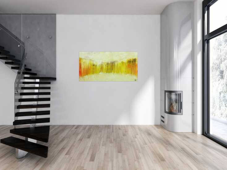 #1720 Abstraktes Gemälde Modern art handgemalt auf Leinwand 70x140cm von Alex Zerr