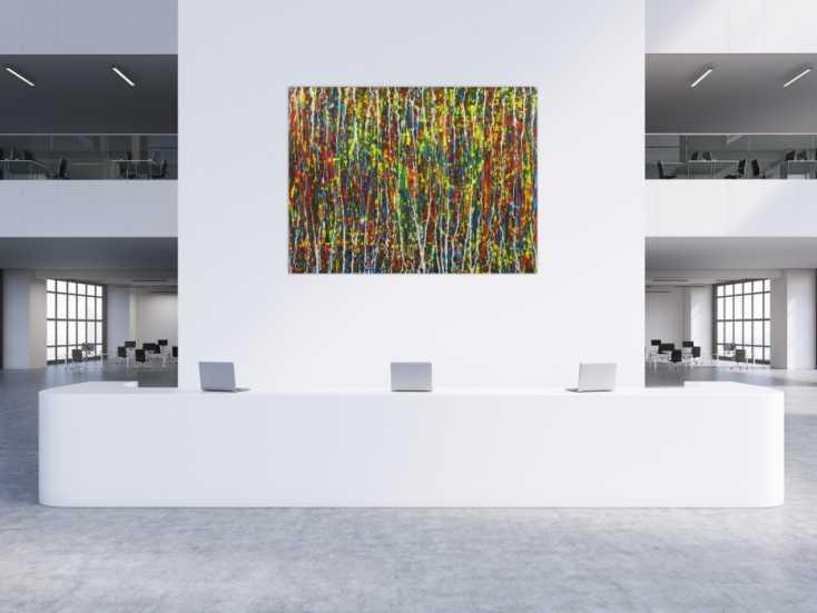 #1724 Abstraktes Actylbild auf Leinwand handgemalt Modern Art auf Leinwand ... 150x200cm von Alex Zerr
