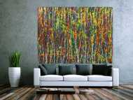 Abstraktes Acrylbild auf Leinwand handgemalt Modern Art auf Leinwand Action Painting