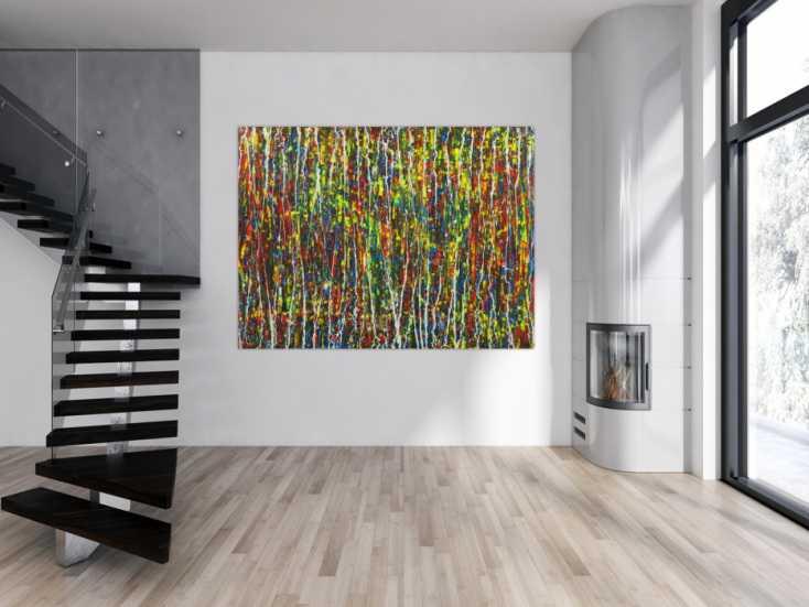 #1724 Abstraktes Acrylbild auf Leinwand handgemalt Modern Art auf Leinwand ... 150x200cm von Alex Zerr