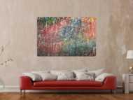 Abstraktes Gemälde auf Leinwand handgemaltes Acrylbild Action Paiting