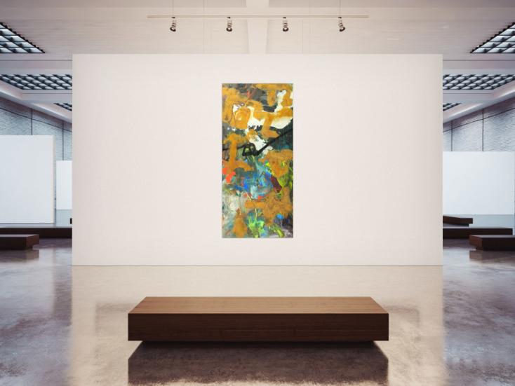 #1729 Gemälde Original abstrakt 200x90cm Aus echtem Rost expressionistisch ... 200x90cm von Alex Zerr