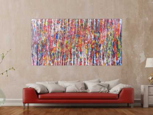 Abstraktes Gemälde bunt modern