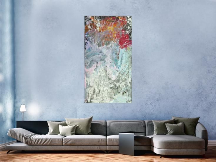 #1730 Original Gemälde abstrakt 150x80cm Action Painting Modern Art auf ... 150x80cm von Alex Zerr