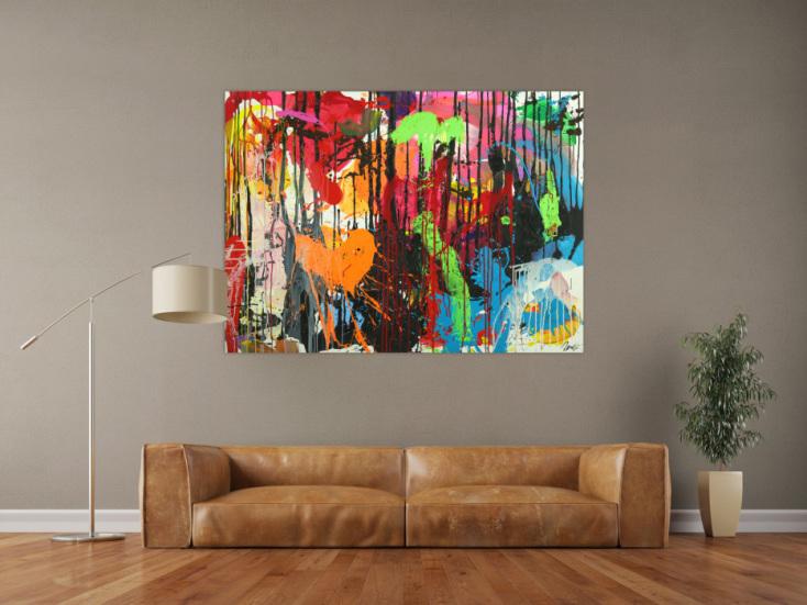 #1731 Abstraktes Original Gemälde 110x150cm Action Painting ... 110x150cm von Alex Zerr