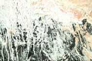 Detailaufnahme Gemälde Original abstrakt 100x80cm Action Painting Moderne Kunst handgemalt Mischtechnik weiß beige grau Unikat